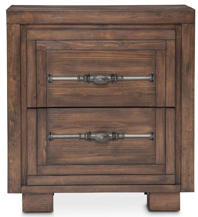 Michael Amini® Carrollton Rustic Ranch Two Drawer Nightstand-KI-CRLN042-407