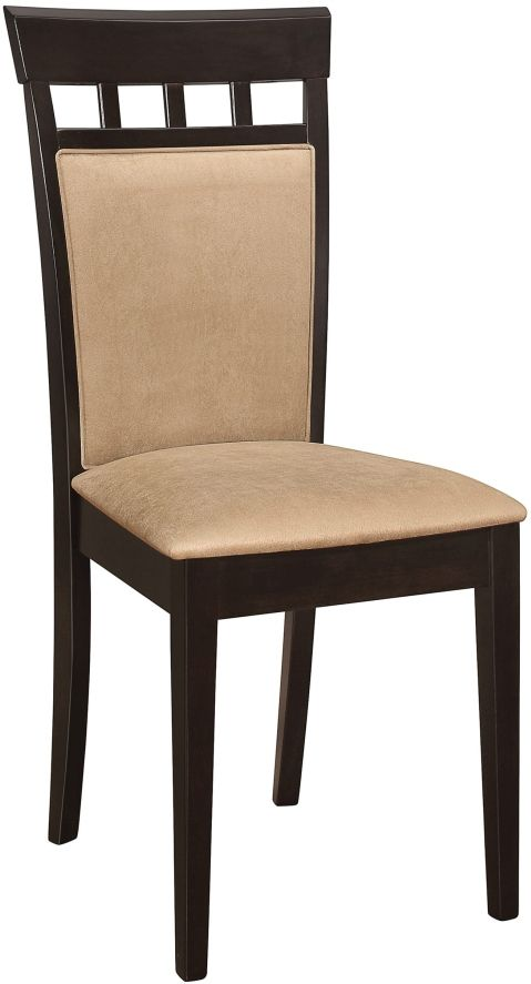 Coaster® Gabriel Cappuccino and Tan Upholstered Side Chairs (Set Of 2)-100773