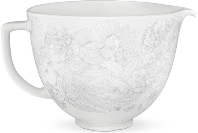 KitchenAid® Whispering Floral 5 Liter Ceramic Bowl-KSM2CB5PWF
