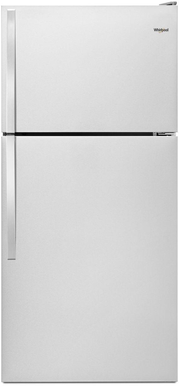 Whirlpool® 14.3 Cu. Ft. Top Freezer Refrigerator-Monochromatic Stainless Steel-WRT134TFDM