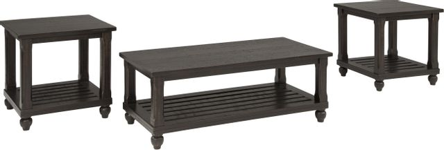 Signature Design by Ashley® Mallacar 3 Piece Black Occasional Table Set-T145-13