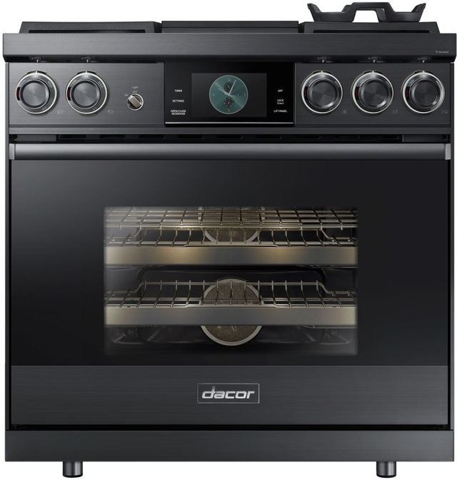 """Dacor® Contemporary 36"""" Pro Dual-Fuel Steam Range-Graphite Stainless Steel-DOP36M94DPM"""