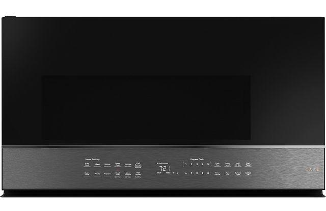 Four à micro-ondes à hotte intégrée Cafe™ de 2,1 pi³ de 30 po - Acier inoxydable-CVM721M2NCS5