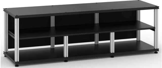 Salamander Designs® Synergy Open Center Triple 20 AV Cabinet-Black/Aluminum-SLC20B/A