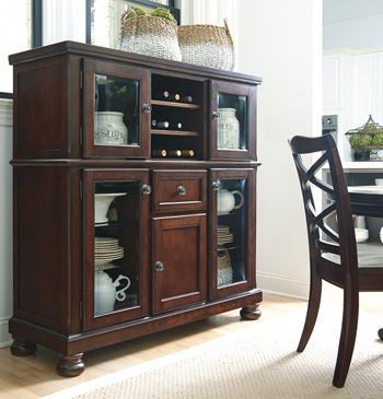 Millennium® By Ashley Porter Rustic Brown Dining Room Storage Server-D697-76