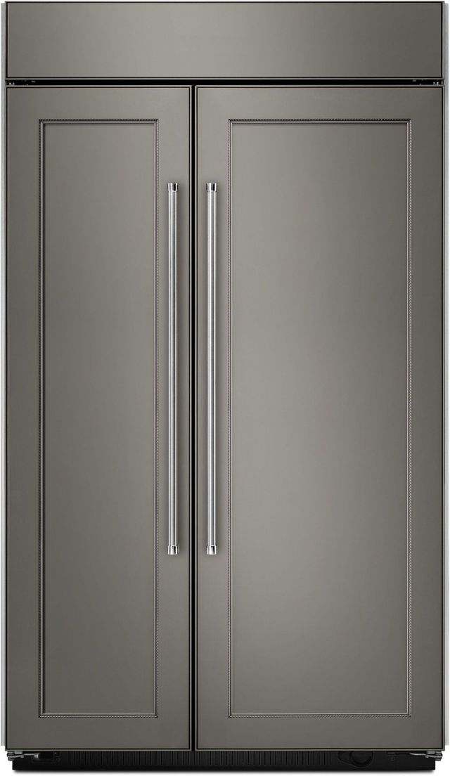 KitchenAid® 25.48 Cu. Ft.Panel Ready Built In Side-By-Side Refrigerator-KBSN602EPA
