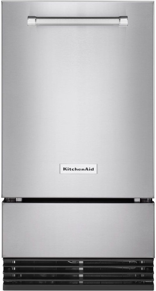 "KitchenAid® 17.69"" Stainless Steel with PrintShield™ Finish Automatic Ice Maker-KUID308HPS"