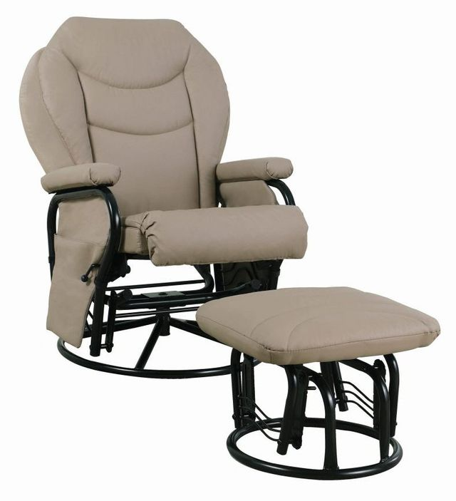 Coaster® 2 Piece Beige Glider Recliner Set-7040