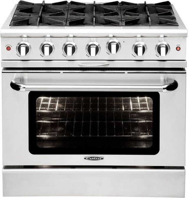 "Capital Culinarian 36"" Black Free Standing Gas Range-MCOR366LB"