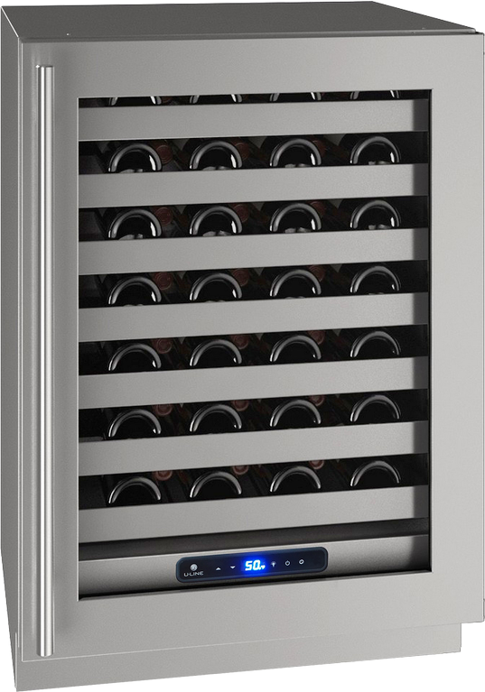 "U-Line® 24"" Stainless Frame Wine Captain®-UHWC524-SG01A"