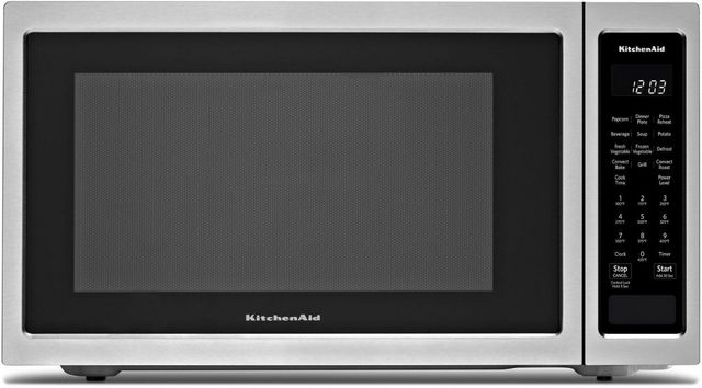 KitchenAid® 1.5 Cu. Ft. Stainless Steel Countertop Convection Microwave Oven-KMCC5015GSS