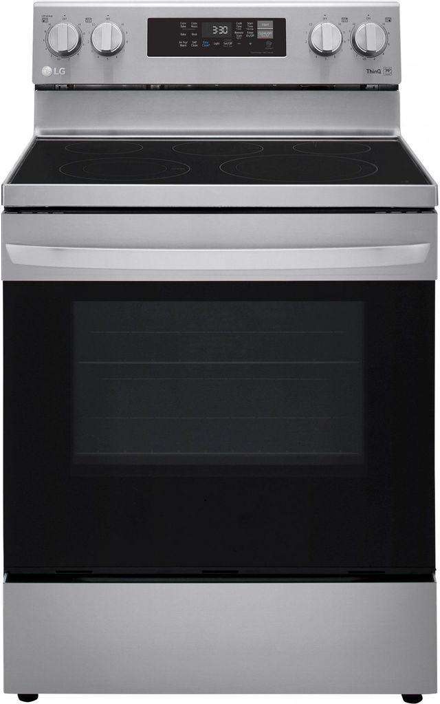 Cuisinière électrique autoportante de 6,3 pi³ LG® de 30 po - Acier inoxydable-LREL6323S