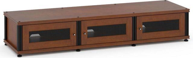 Salamander Designs® Synergy Model 133 AV Cabinet-Dark Cherry/Black-SB133C/B