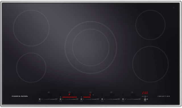 """Fisher & Paykel Series 9 Professional 36"""" Stainless Steel Frame Induction Cooktop-CI365PTX1 N"""