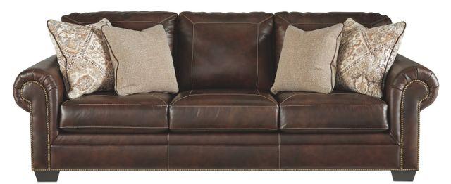 Canapé-lit Ashley en cuir brun Signature Design by Ashley®-5870239