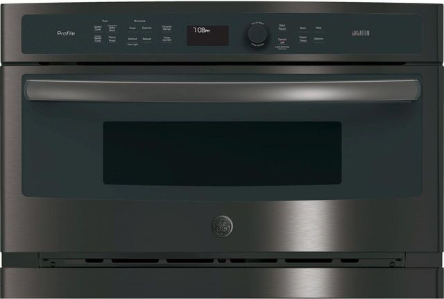 """GE Profile™ 29.78"""" Black Stainless Steel Electric Single Oven Built In-PSB9240BLTS"""