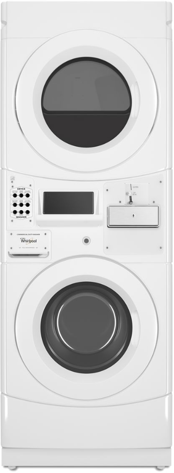 Whirlpool® Commercial 3.1 Cu. Ft. Washer, 6.7 Cu. Ft. Dryer White Stack Laundry-CET9000GQ