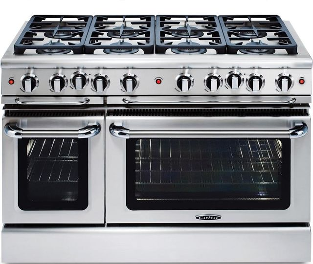 """Capital Precision™ 48"""" Stainless Steel Free Standing Gas Range-GSCR488L"""