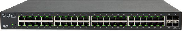 SnapAV Araknis Networks® 310 Series Black 48+4 Front Ports L2 Managed Gigabit Switch-AN-310-SW-F-48