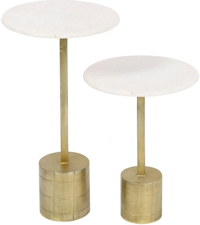 Tables d'appoint ronde Travista, or, Renwil®-TA414
