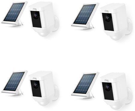Ring 4 Pack White Spotlight Cam Solar-20657527849049