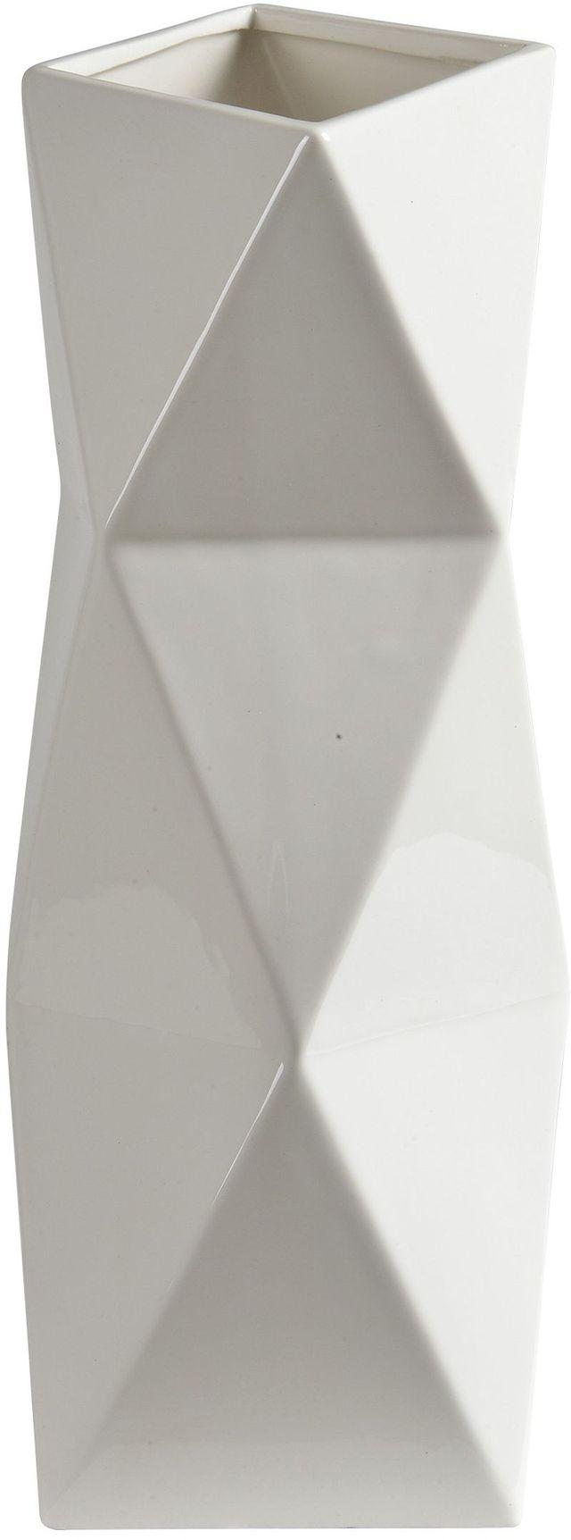 Vase brillant Melville, blanc brillant, Renwil®-STA576