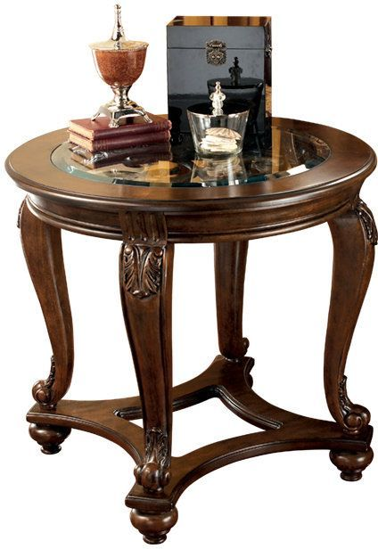 Signature Design by Ashley® Norcastle Dark Brown Round End Table-T499-6