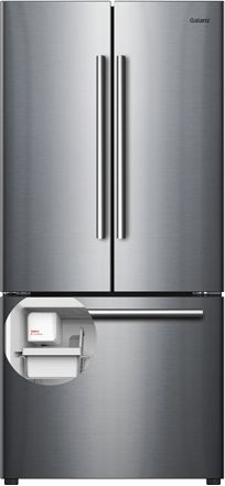 Galanz 16 Cu. Ft. Stainless Steel French Door Refrigerator-GLR16FS2K16
