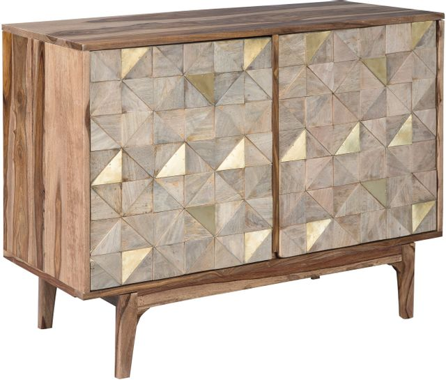 Signature Design by Ashley® Carolmore Brown/Gold Accent Cabinet-A4000169