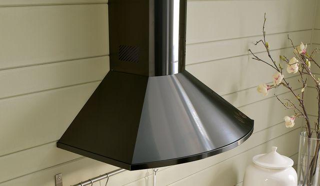 """Faber Tender 30"""" Black Stainless Steel Wall Mounted Range Hood-TEND30BSV"""