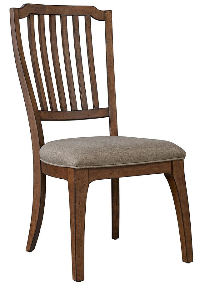 Liberty Arlington House Cobblestone Brown Spindle Back Side Chair-411-C4001S