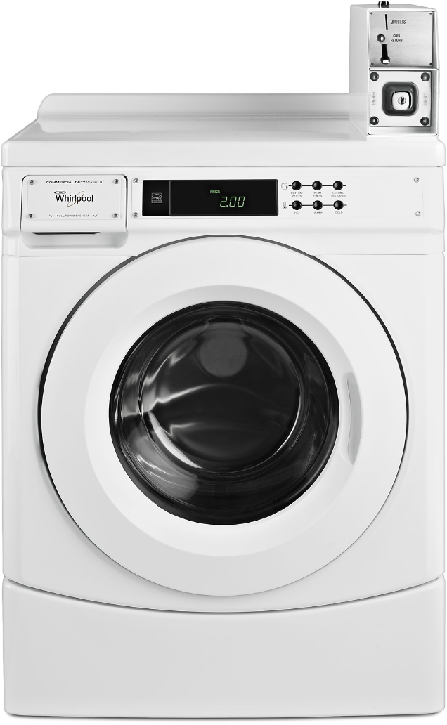 Whirlpool® Commercial 3.1 Cu. Ft. White Front Load Washer-CHW9150GW