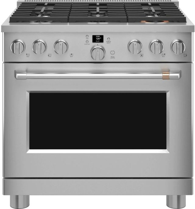 """Café™ 36"""" Stainless Steel Pro Style Gas Range -CGY366P2TS1"""
