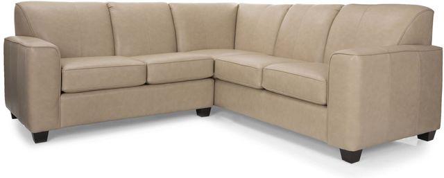 Canapé sectionnel 2 morceaux en cuir Decor-Rest®-3705-07+30
