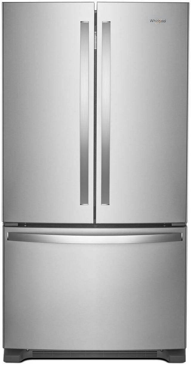Whirlpool® 25.19 Cu. Ft. Wide French Door Refrigerator-Fingerprint Resistant Stainless Steel-WRF535SMHZ