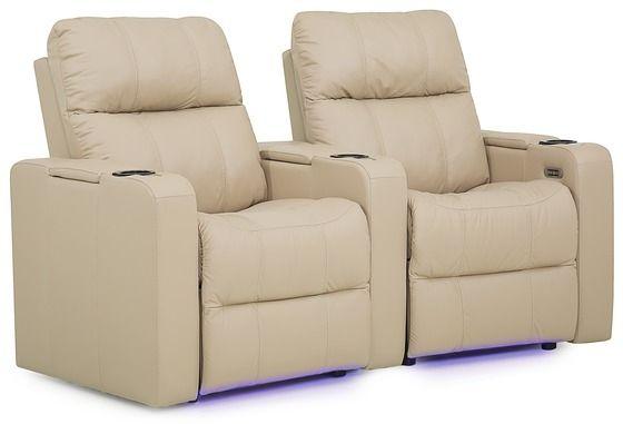 Sièges de cinéma-maison 2 morceaux motorisé Soundtrack en tissu Palliser Furniture®-41423-1E+3E