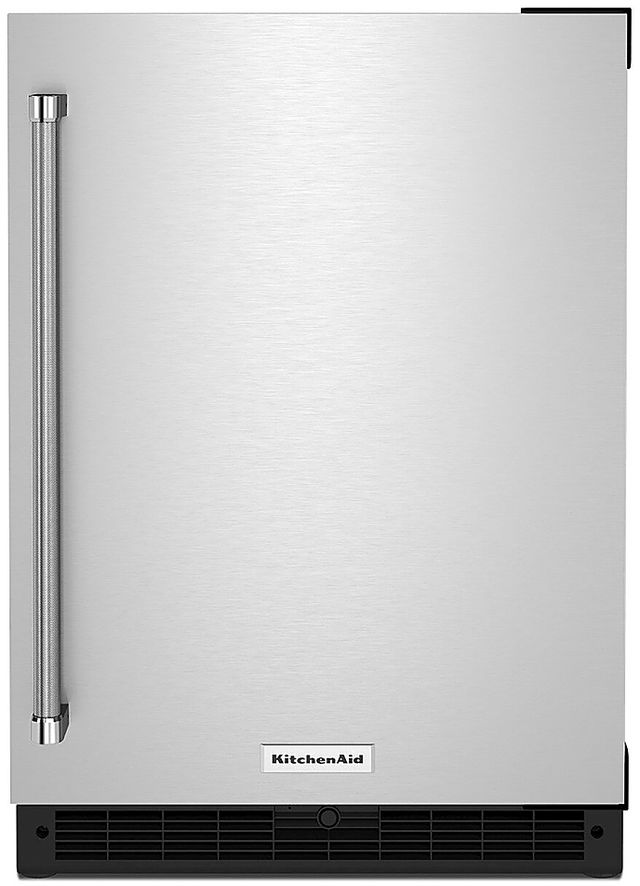 KitchenAid® 5.0 Cu. Ft. Stainless Steel Under the Counter Refrigerator-KURR114KSB