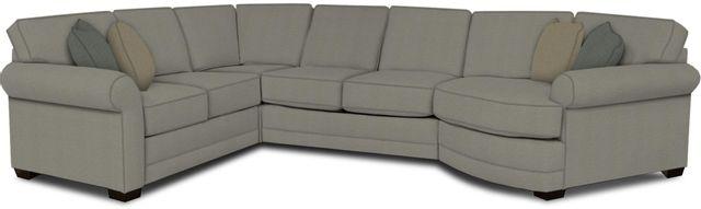 England Furniture Co. Brantley 4 Piece Culpepper Cement/Alvarado Mineral/Macintosh Mist Sectional-5630-28-22-43-95+8612+8460+8601