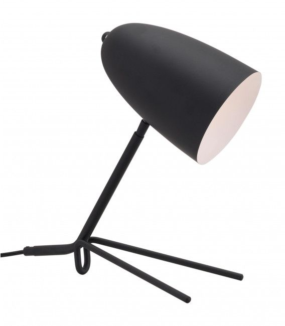 Zuo® Jamison Matte Black Table Lamp-56082