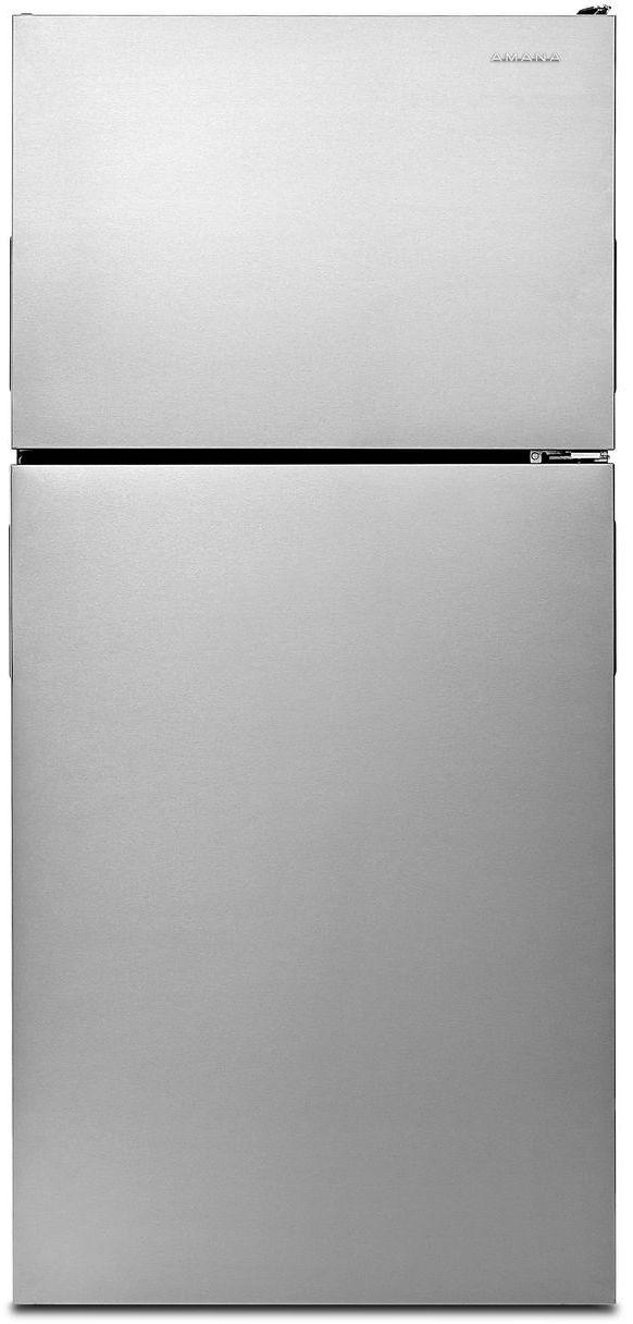 Amana® 18.15 Cu. Ft. Monochromatic Stainless Steel Top Freezer Refrigerator-ART308FFDM