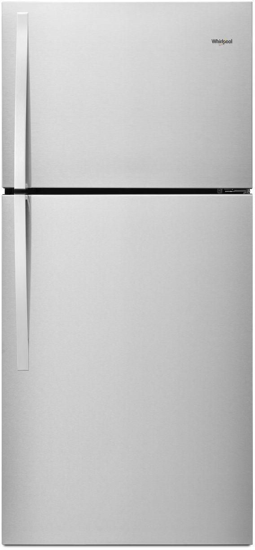 Whirlpool® 19.2 Cu. Ft. Top Freezer Refrigerator-Monochromatic Stainless Steel-WRT519SZDM