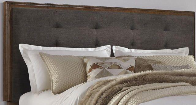 Signature Design by Ashley® Ralene Dark Brown King/California King Upholstered Panel Headboard-B594-58