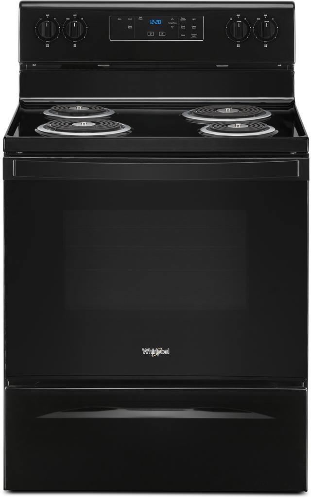 "Whirlpool® 30"" Black Free Standing Electric Range-WFC315S0JB"