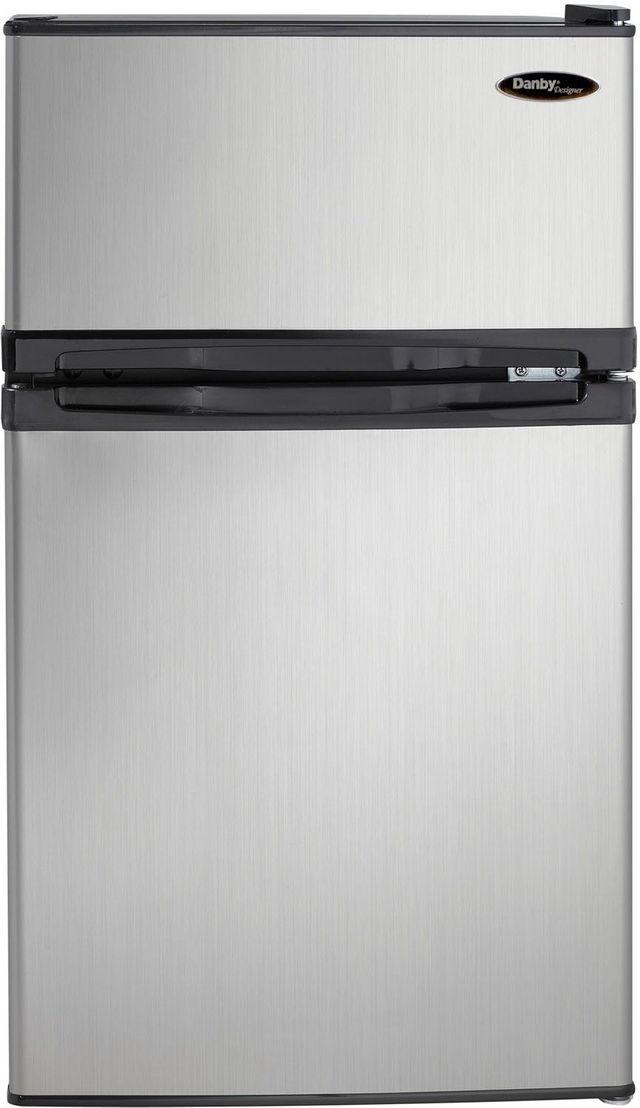 Réfrigérateur compact de 19 po Danby® de 3,1 pi³ - Noir et acier inoxydable-DCR031B1BSLDD