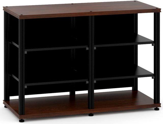 Salamander Designs® Synergy Twin 30 AV Cabinet-Dark Walnut/Black-SN30W/B