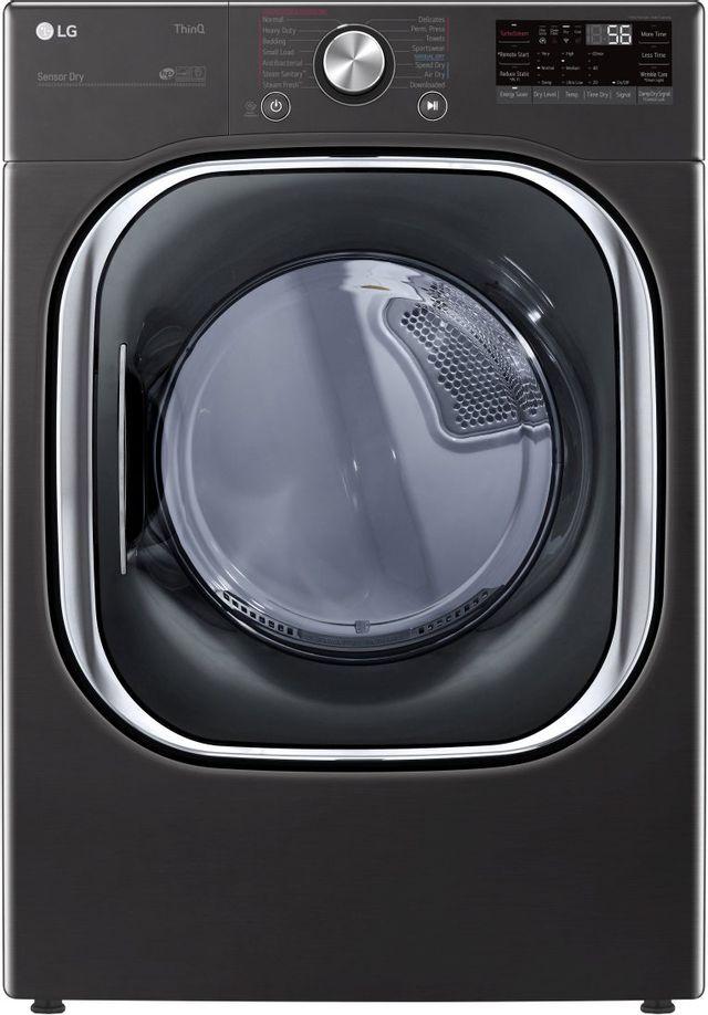 LG 7.4 Cu. Ft. Black Steel Front Load Gas Dryer-DLGX4501B