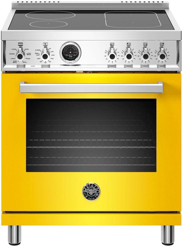 Cuisinière électrique autoportante de 4,6 pi³ Bertazzoni® de 30 po - Jaune-PROF304INSGIT