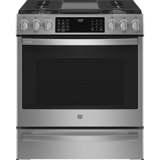 Cuisinière au gaz encastrée GE Profile® de 5,6 pi³ de 30 po - Acier inoxydable-PCGS930YPFS