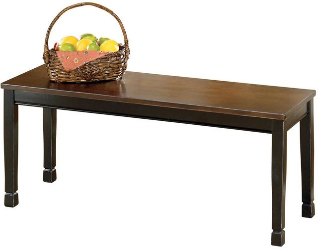 Signature Design by Ashley® Owingsville Black/Brown Large Dining Room Bench-D580-00