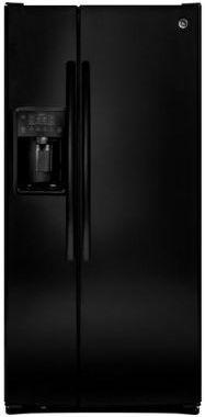 GE® 23.2 Cu. Ft. Side-By-Side Refrigerator-Black-GSE23GGKBB